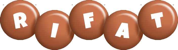 Rifat candy-brown logo