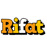 Rifat cartoon logo