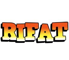 Rifat sunset logo
