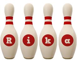 Rika bowling-pin logo