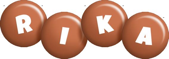 Rika candy-brown logo