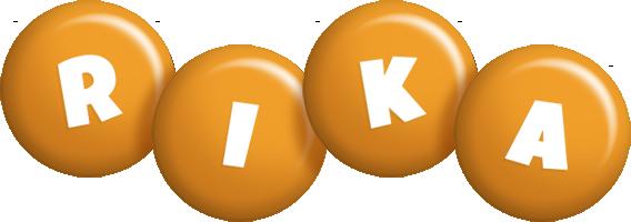 Rika candy-orange logo