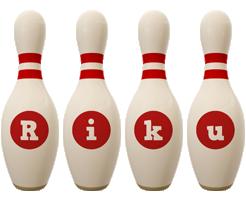 Riku bowling-pin logo