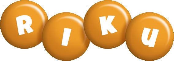 Riku candy-orange logo