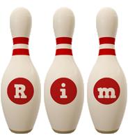 Rim bowling-pin logo