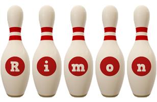 Rimon bowling-pin logo