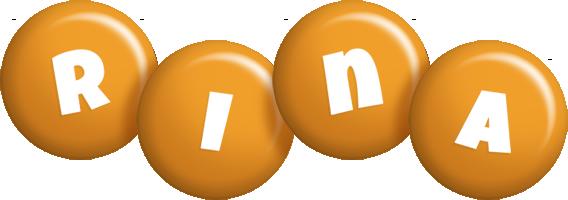 Rina candy-orange logo