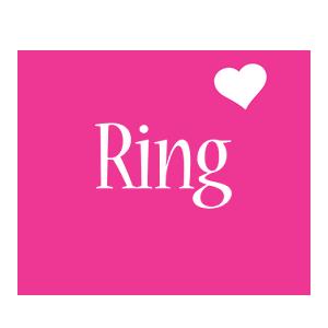 Ring love-heart logo