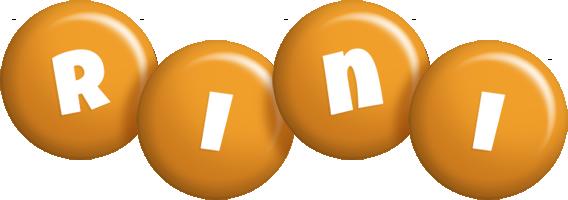 Rini candy-orange logo