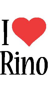 Rino i-love logo