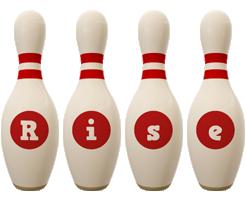 Rise bowling-pin logo