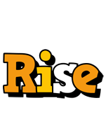 Rise cartoon logo