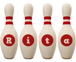 Rita bowling-pin logo