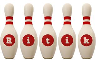 Ritik bowling-pin logo