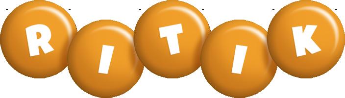 Ritik candy-orange logo