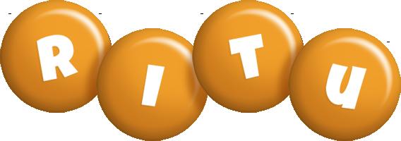 Ritu candy-orange logo