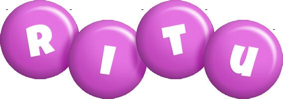 Ritu candy-purple logo