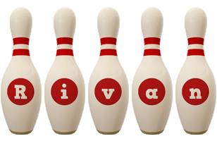 Rivan bowling-pin logo