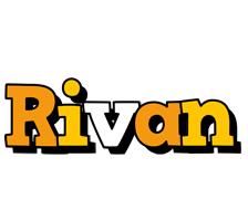 Rivan cartoon logo