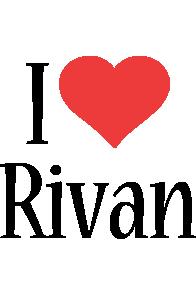 Rivan i-love logo