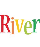 River birthday logo