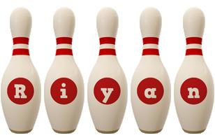 Riyan bowling-pin logo