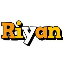 Riyan cartoon logo