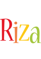 Riza birthday logo