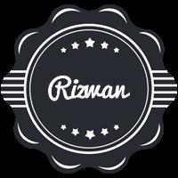 Rizwan badge logo