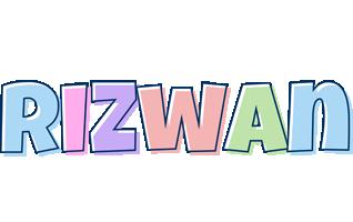 Rizwan pastel logo