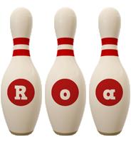 Roa bowling-pin logo
