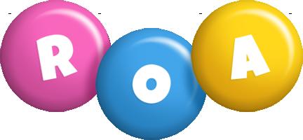 Roa candy logo