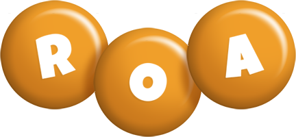 Roa candy-orange logo