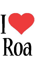 Roa i-love logo