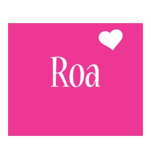 Roa love-heart logo