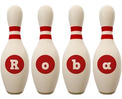 Roba bowling-pin logo