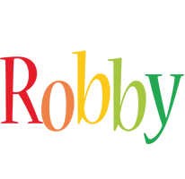 Robby birthday logo