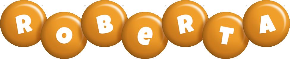 Roberta candy-orange logo