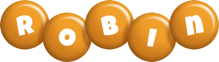 Robin candy-orange logo