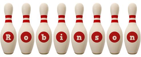 Robinson bowling-pin logo