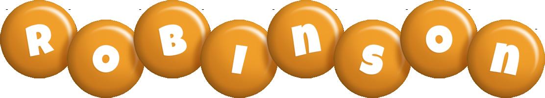 Robinson candy-orange logo