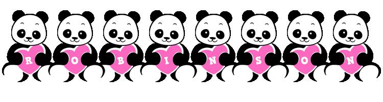 Robinson love-panda logo