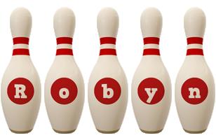 Robyn bowling-pin logo