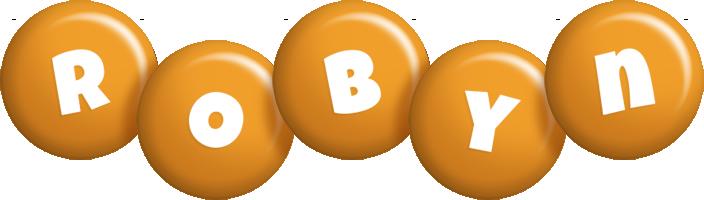 Robyn candy-orange logo