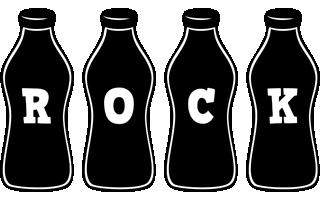 Rock bottle logo