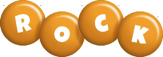 Rock candy-orange logo