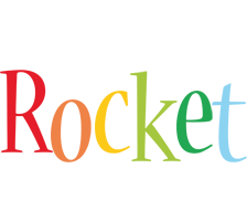 Rocket birthday logo