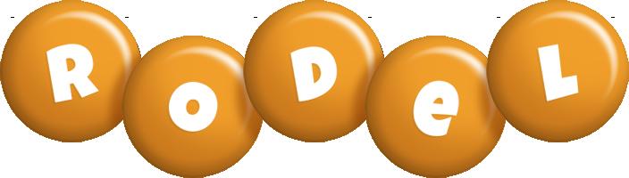 Rodel candy-orange logo