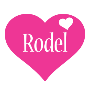Rodel love-heart logo
