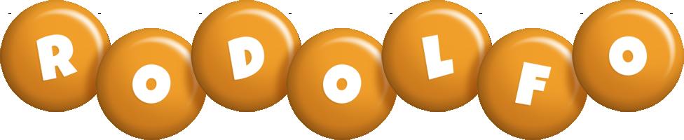 Rodolfo candy-orange logo